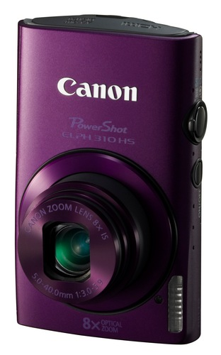 Canon PowerShot ELPH 310 HS 8x zoom compact digital camera purple