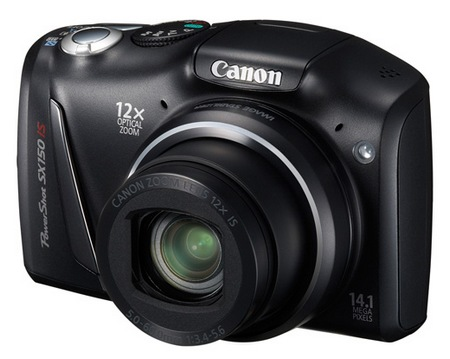 Canon PowerShot SX150 IS 12x Zoom Digital Camera black