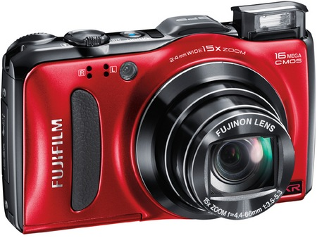 FujiFilm FinePix F600 EXR 15x Zoom Digital Camera red