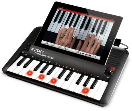 ION Audio Piano Apprentice Piano Learning System for iOS Devices