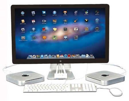 Kanex SnapX Two Port Switcher for Apple LED Cinema Display in use