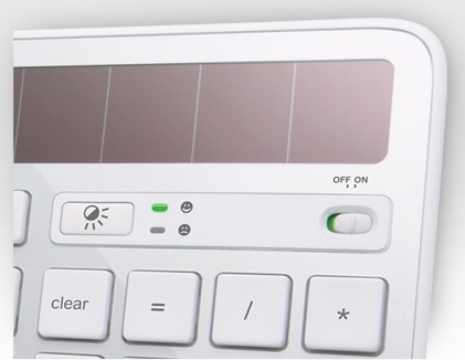 Logitech Wireless Solar Keyboard K750 for Mac solar panel