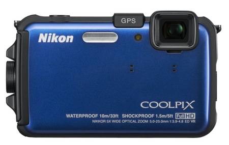 Nikon CoolPix AW100 Rugged Digital Camera blue