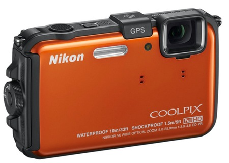 Nikon CoolPix AW100 Rugged Digital Camera orange
