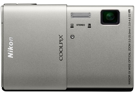 Nikon CoolPix S100 Compact Camera with 3.5-inch OLED Touchscreen silver