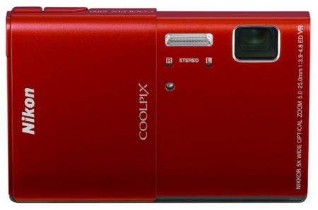 Nikon CoolPix S100 Compact Camera with 3.5-inch OLED Touchscreenred