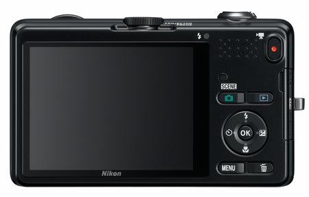 Nikon CoolPix S1200pj Digital Camera with built-in Projector back