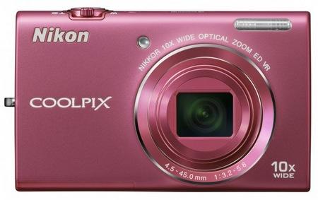 Nikon CoolPix S6200 Compact 10x Zoom Camera pink