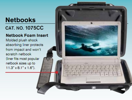 Pelican 1075CC HardBack Case for Netbooks