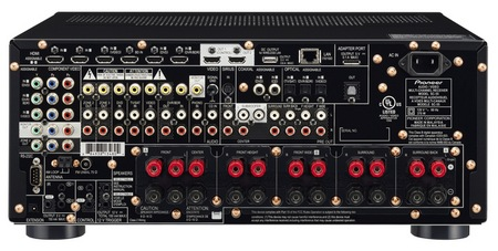 Pioneer Elite SC-57 and SC-55 A V Receivers back
