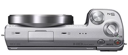Sony NEX-5N Compact Interchangeable Lens Camera top