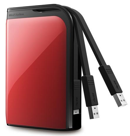 Buffalo MiniStation Extreme USB 3.0 Portable Hard Drive red