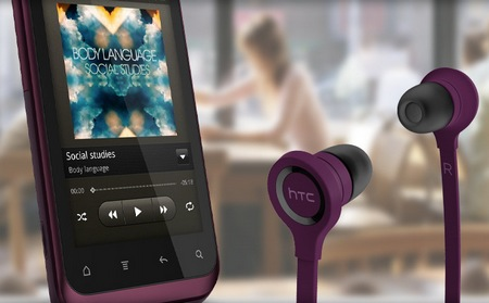 HTC Rhyme Android Smartphone with headphones