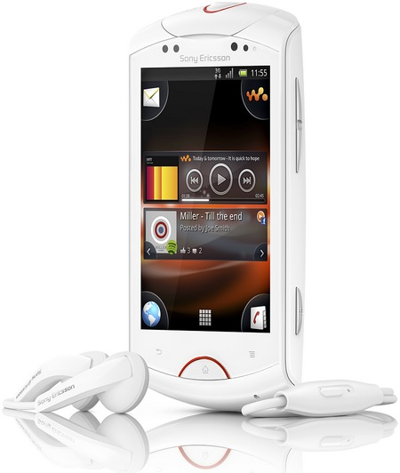 Sony Ericsson Live with Walkman Android Phone white front