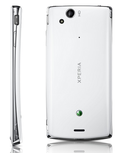 Sony Ericsson Xperia arc S Android Smartphone side back