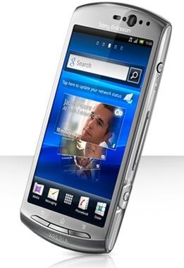 Sony Ericsson Xperia neo V Android Phone silver