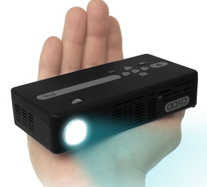 AAXA P4 Pico Projector - World's Brightest Battery Powered Projector on hand