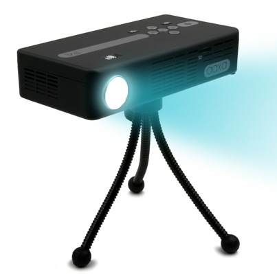 AAXA P4 Pico Projector - World's Brightest Battery Powered Projector tripod
