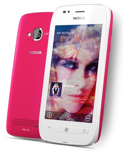 Nokia Lumia 710 Windows Phone 7.5 Smartphone pink