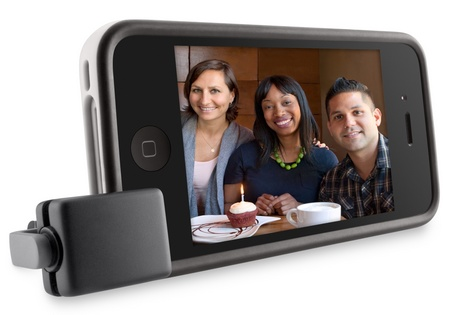 Belkin LiveAction Camera Remote for iPhone and iPod touch stand