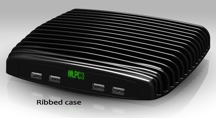 CompuLab Fit-PC3 Mini PC ribbed case