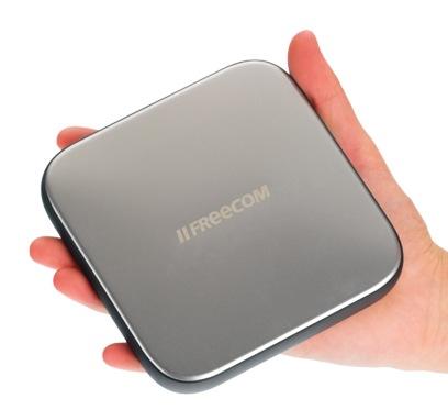 Freecom Mobile Drive Sq USB 3.0 Portable Hard Drive on hand