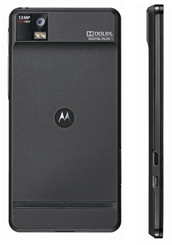 Motorola XT928 Android Smartphone for China Telecom back side