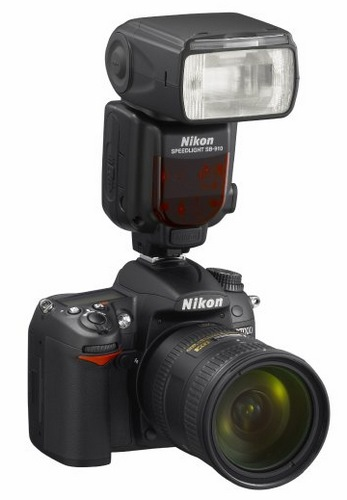 Nikon Speedlight SB-910 DSLR Flash on camera