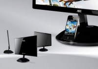 AOC e2343Fi LCD Display with integrated iPhone iPod Dock