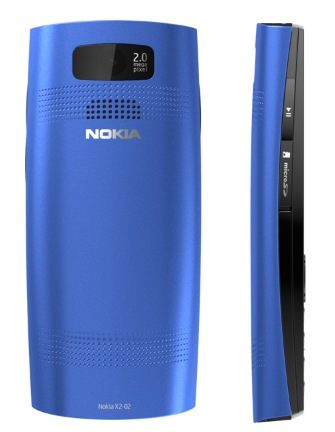 Nokia X2-02 Dual-SIM Music Phone blue