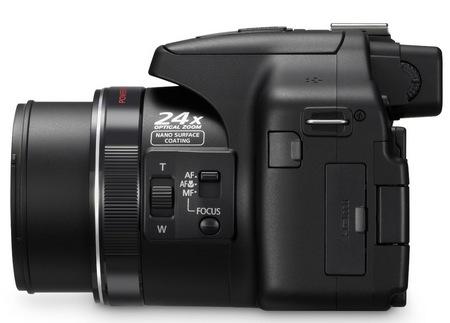 Panasonic Lumix DMC-FZ150 24x Super-Zoom Camera side