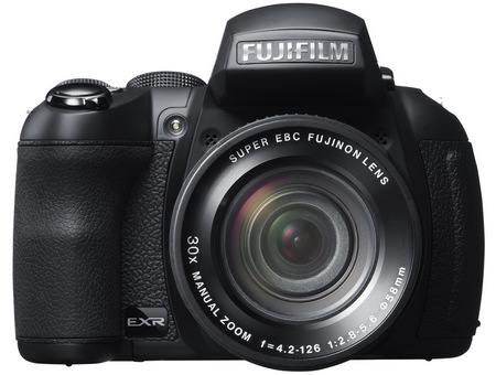FujiFilm FinePix HS30EXR and HS25EXR Cameras with 30x Optical Zoom front
