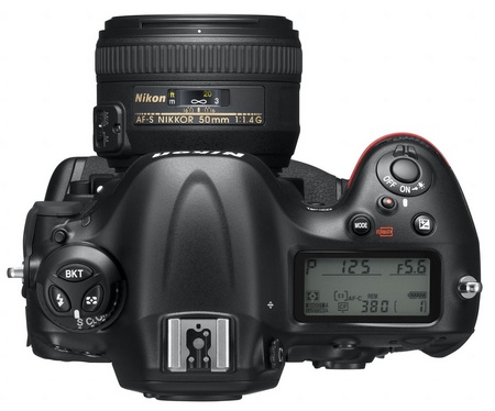 Nikon D4 Digital SLR top