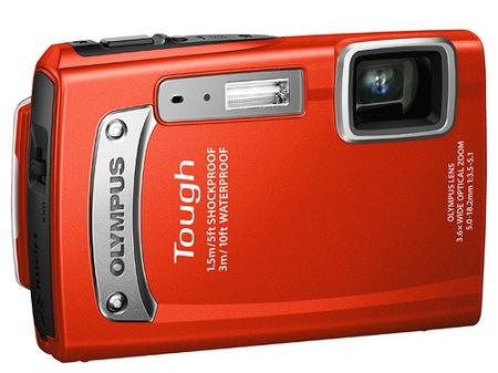 Olympus TOUGH TG-320 Rugged Digital Camera red