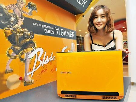 Samsung Series 7 GAMER Yellow Gaming Notebook live shot