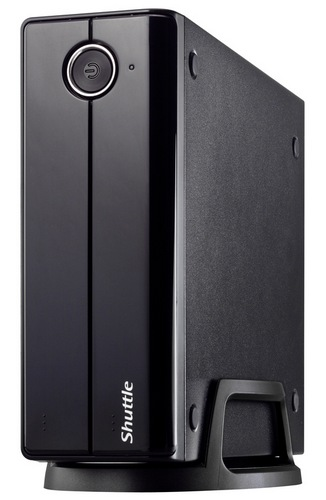 Shuttle XPC XH61 Mini-PC Barebone vertical