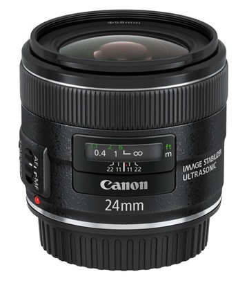 Canon EF 24mm f2.8 IS USM with Optical Image Stabilization
