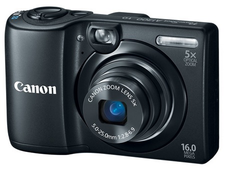 Canon PowerShot A1300 Digital Camera uses AA Batteries black