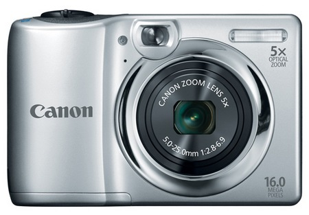 Canon PowerShot A1300 Digital Camera uses AA Batteries silver