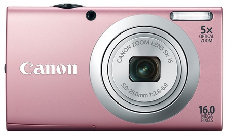 Canon PowerShot A2400 IS digital camera pink