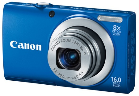 Canon PowerShot A4000 IS digital camera blue