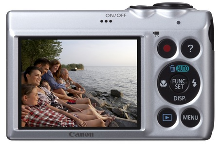 Canon PowerShot A810 Digital Camera uses AA Batteries back