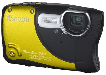Canon PowerShot D20 Waterproof, Shockproof, Freezeproof Camera yellow