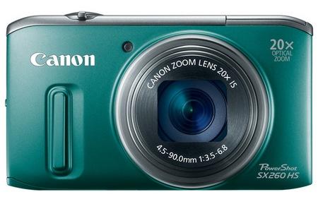 Canon PowerShot SX260 HS GPS 20x zoom digital camera green