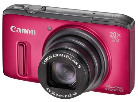 Canon PowerShot SX260 HS GPS 20x zoom digital camera red