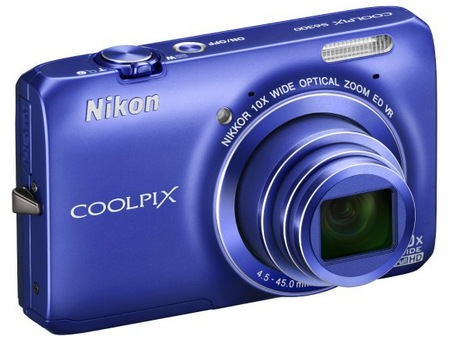 Nikon CoolPix S6300 Compact 10x Zoom Camera blue