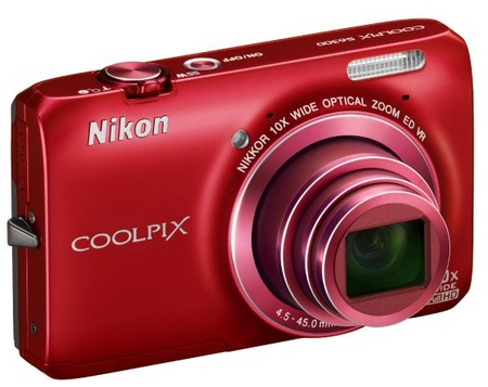 Nikon CoolPix S6300 Compact 10x Zoom Camera red