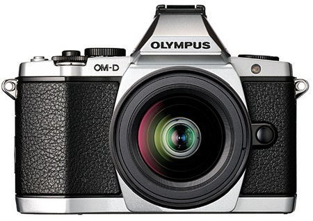 Olympus OM-D E-M5 Micro Four Thirds Camera front silver