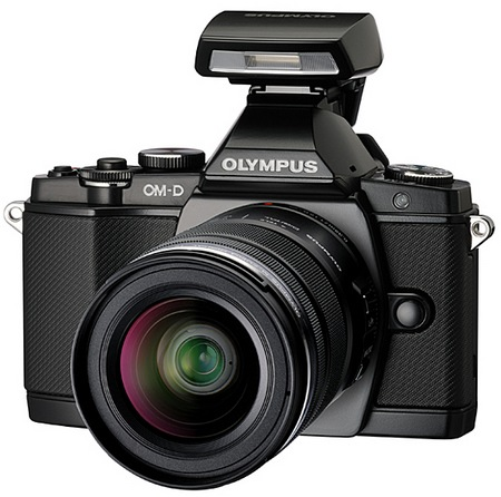 Olympus OM-D E-M5 Micro Four Thirds Camera with flash