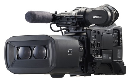 Panasonic AG-3DP1 Twin-lens 3D P2 HD Shoulder-mount Camcorder 1